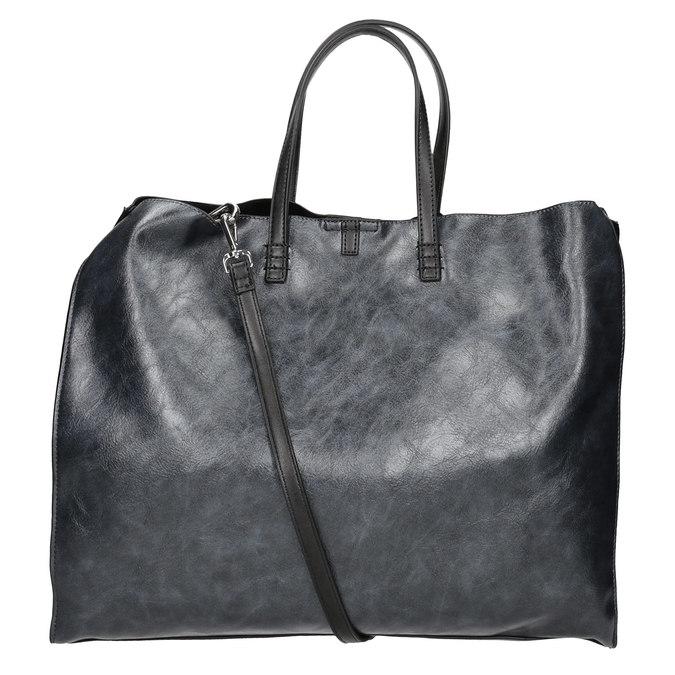 Dámská kabelka se střapcem bata, modrá, černá, 961-9200 - 16