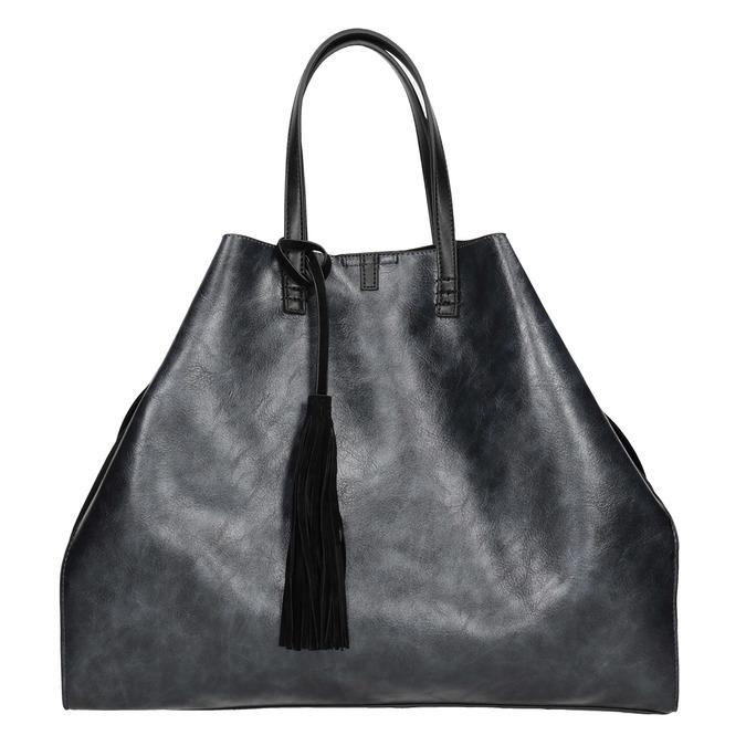 Dámská kabelka se střapcem bata, modrá, černá, 961-9200 - 26