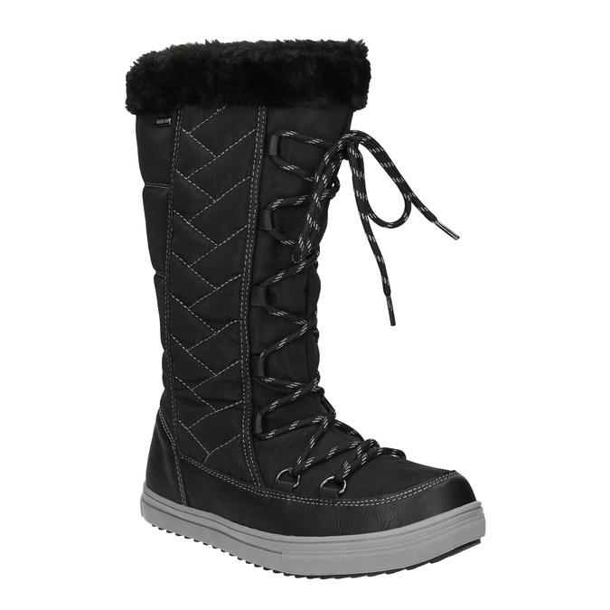 Dámské sněhule s prošíváním bata, černá, 599-6621 - 13