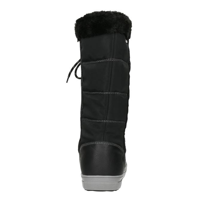 Dámské sněhule s prošíváním bata, černá, 599-6621 - 16