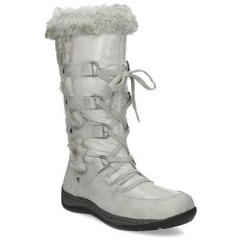 Zimní sněhule s kožíškem bata, béžová, 599-8618 - 13