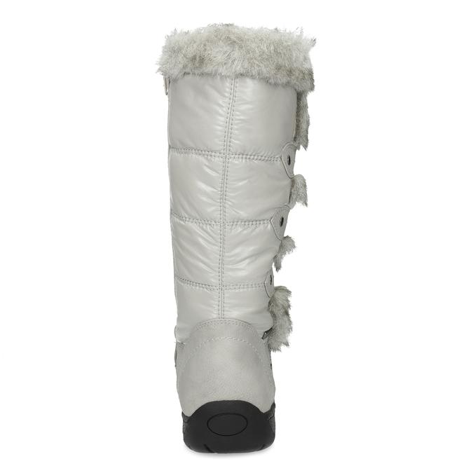 Zimní sněhule s kožíškem bata, šedá, 599-8618 - 15