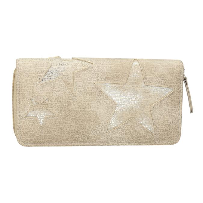 Dámská peněženka s hvězdami bata, béžová, 941-2154 - 26