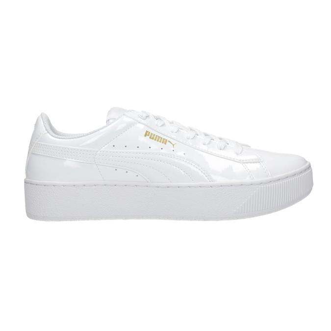 Bílé dámské tenisky na flatformě puma, bílá, 501-1159 - 26