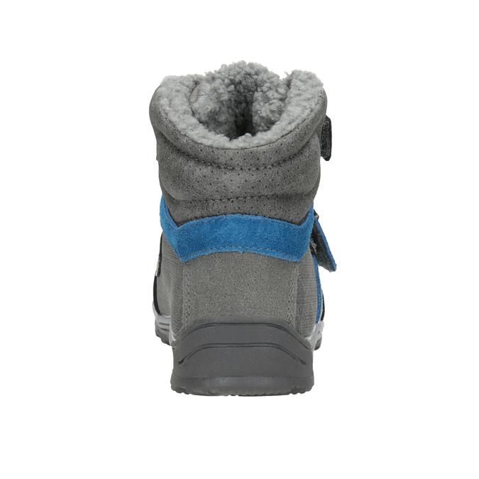 Dětská zimní obuv mini-b, šedá, 291-2627 - 16