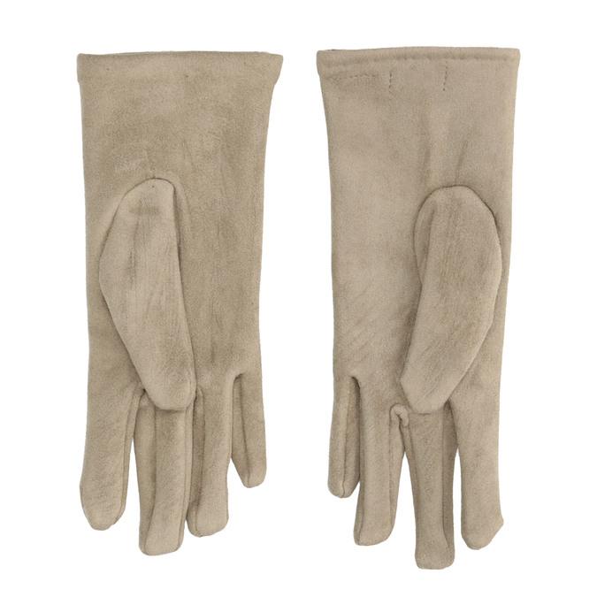 Dámské textilní rukavice s knoflíčky bata, béžová, 909-8612 - 16