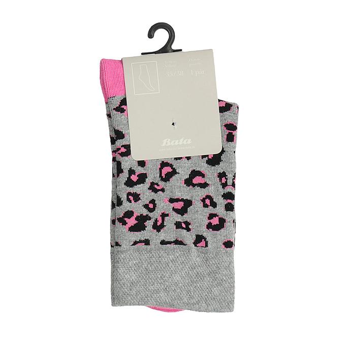 Dámské ponožky se zvířecím vzorem bata, šedá, 919-2661 - 13
