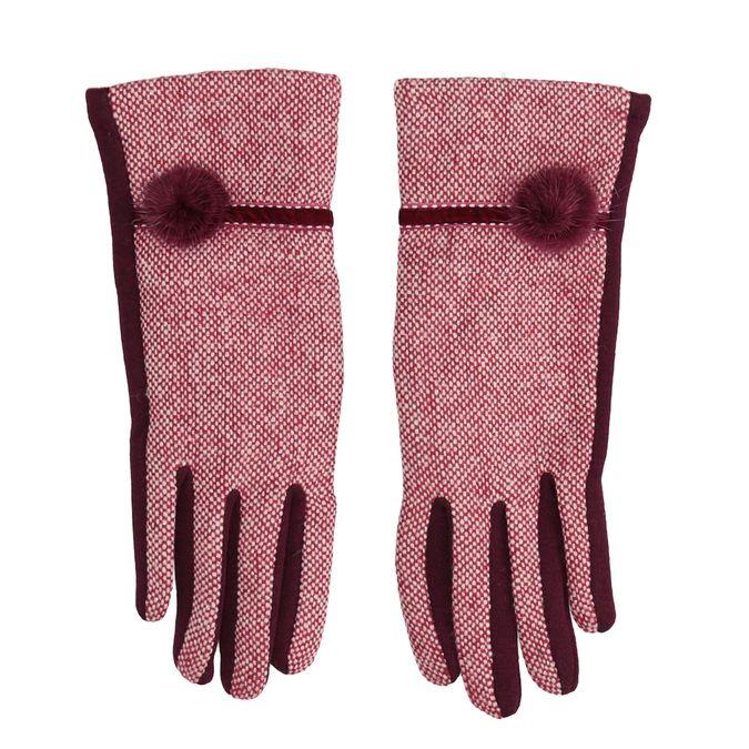 Dámské rukavice s bambulkou bata, červená, 909-5614 - 26