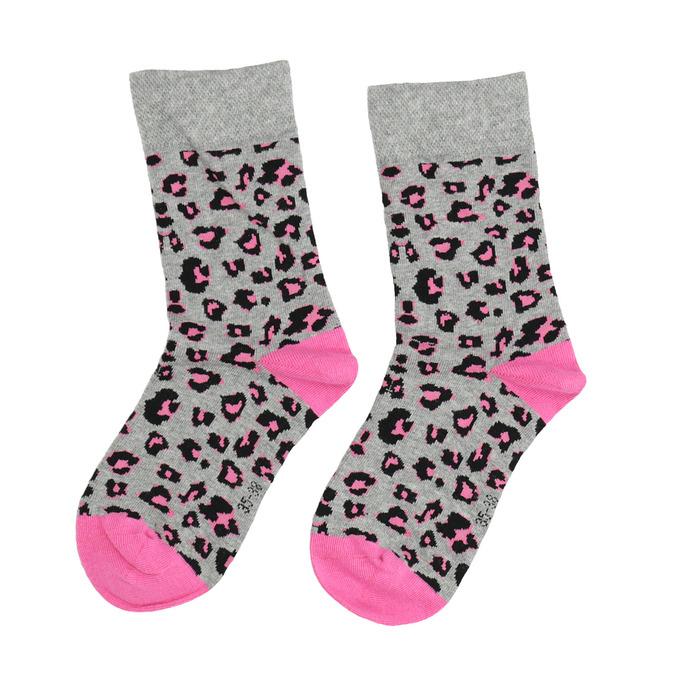 Dámské ponožky se zvířecím vzorem bata, šedá, 919-2661 - 26