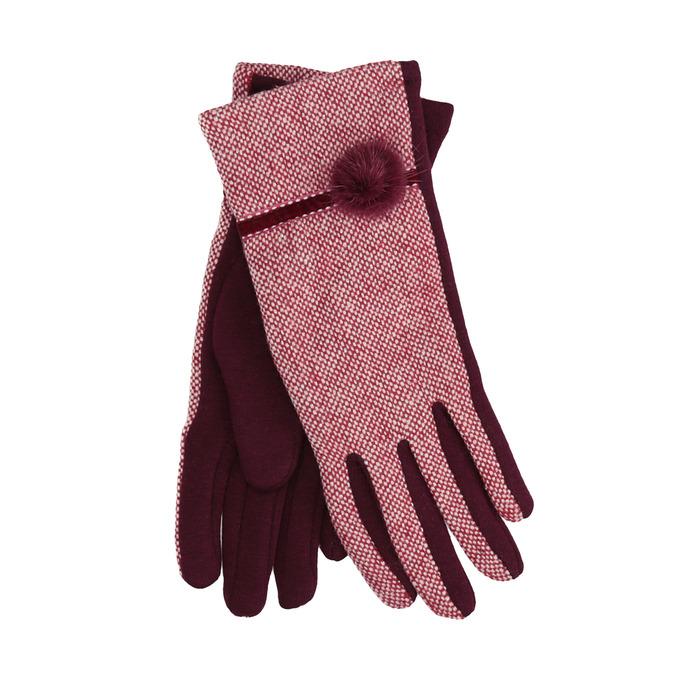 Dámské rukavice s bambulkou bata, červená, 909-5614 - 13