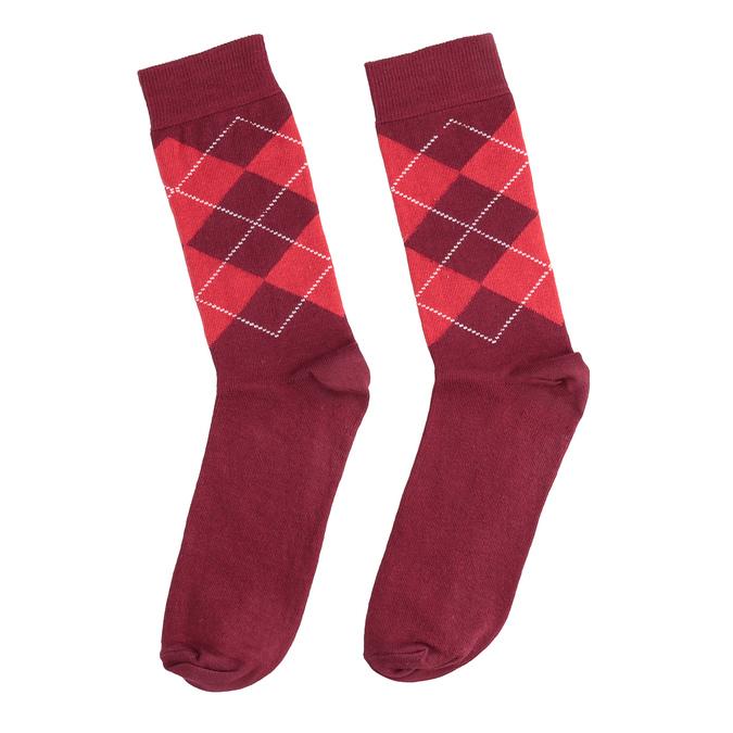 Pánské ponožky s anglickým vzorem bata, červená, 919-5300 - 26
