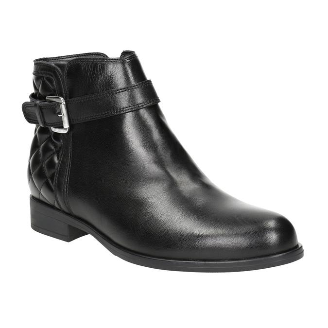 Kožená kotníčková obuv s přezkou bata, černá, 594-6662 - 13