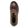 Kožená zimní obuv kotníčková bata, hnědá, 896-4661 - 17