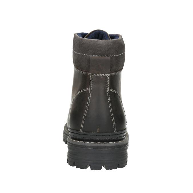 Kotníčková zimní obuv kožená bata, šedá, 896-2660 - 17