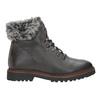 Kožená zimní obuv s kožíškem bata, šedá, 594-6650 - 16