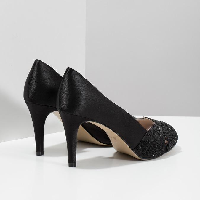Černé lodičky s kamínky bata, černá, 729-6613 - 16