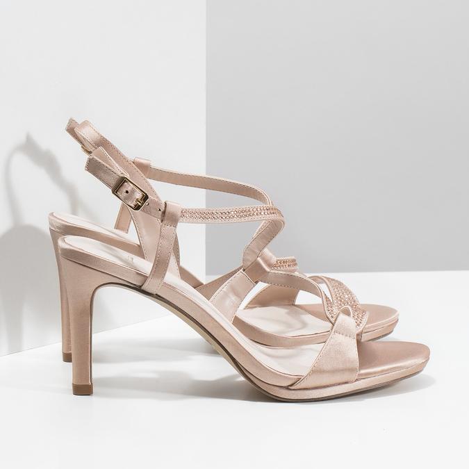 Dámské sandály s kamínky bata, 729-8611 - 16