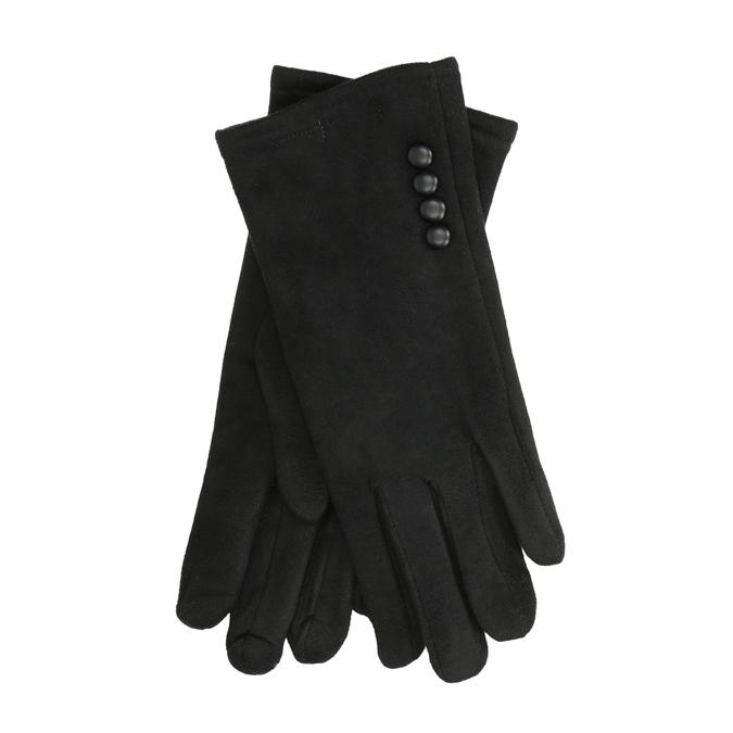 Dámské textilní rukavice bata, černá, 909-6612 - 13