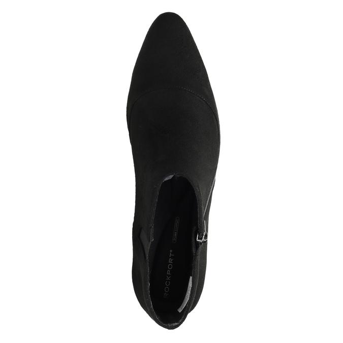Kožená kotníčková obuv na podpatku rockport, černá, 713-6056 - 17