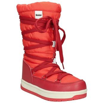 Červené dámské sněhule bata, červená, 599-5616 - 13