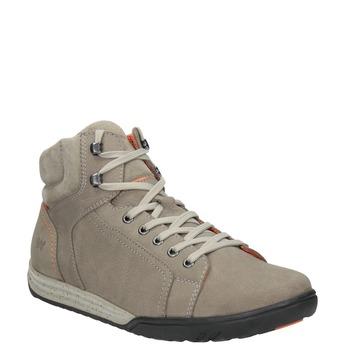 Kožená kotníčková obuv ve sportovním stylu weinbrenner, 896-8706 - 13