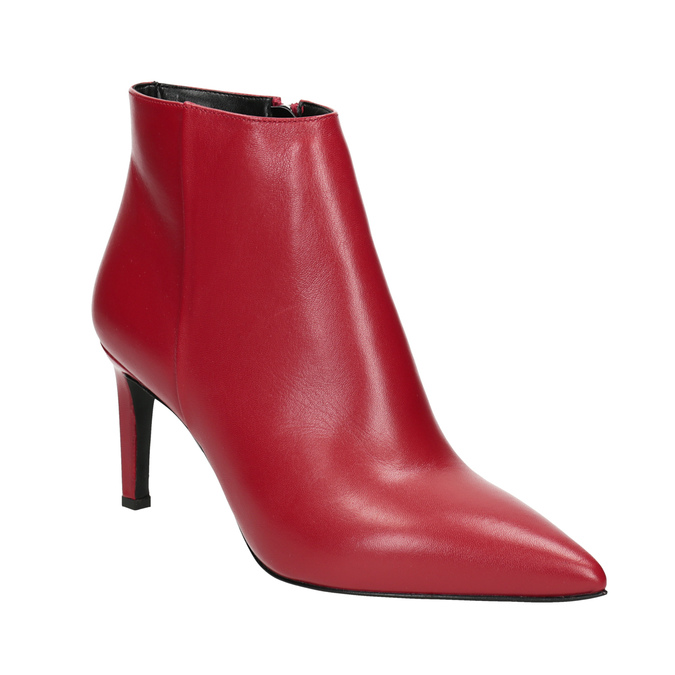 Kožené kotníčkové kozačky červené bata, červená, 794-5651 - 13
