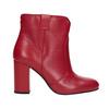 Červené kotníčkové kozačky z kůže bata, červená, 794-5652 - 16