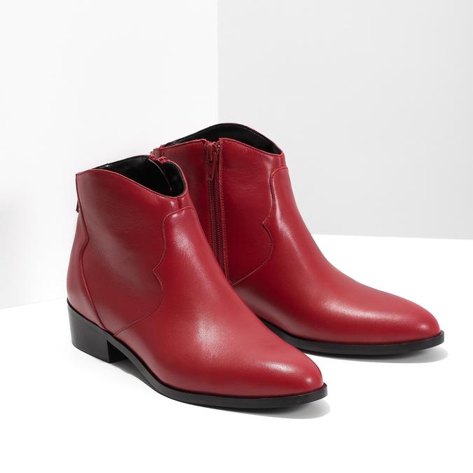 Červená kotníčková obuv bata, červená, 594-5665 - 26
