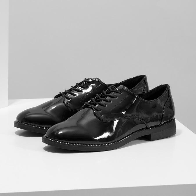Dámské lakované polobotky bata, černá, 521-6608 - 16