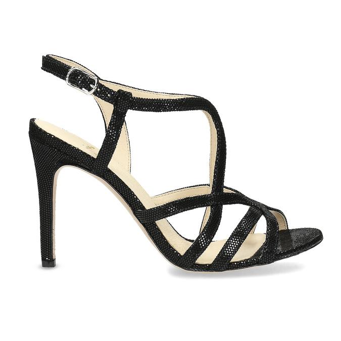 Dámské společenské sandály bata, černá, 726-6648 - 19