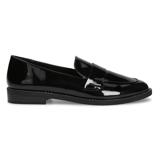 Lakované dámské mokasíny bata, černá, 511-6607 - 19