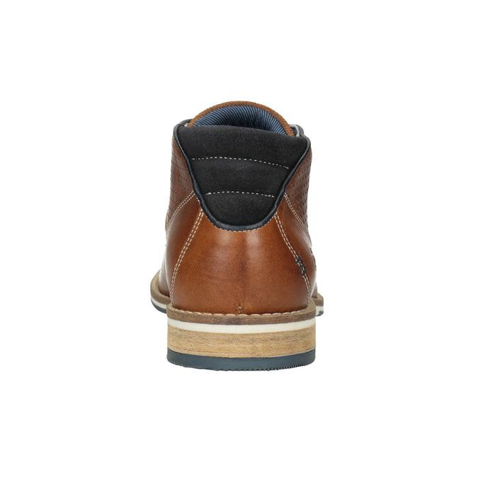 Pánská kožená kotníčková obuv bata, hnědá, 826-3925 - 16