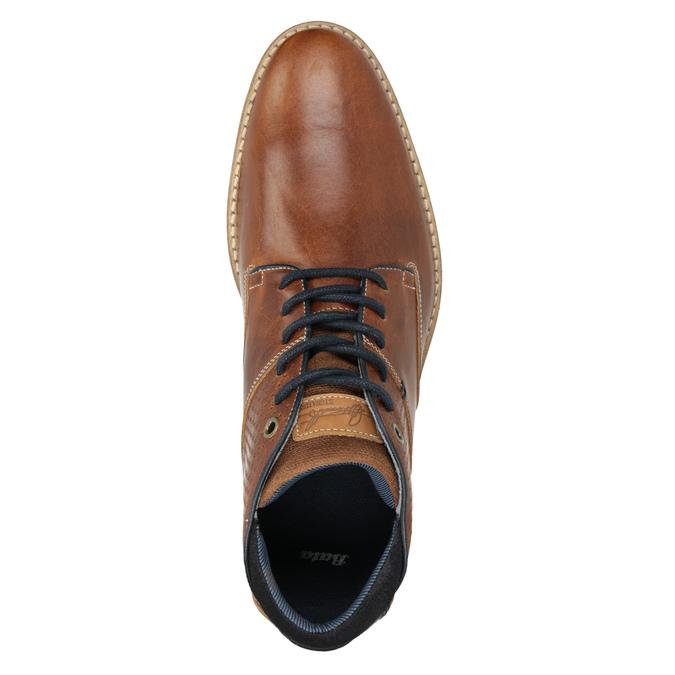 Pánská kožená kotníčková obuv bata, hnědá, 826-3925 - 15