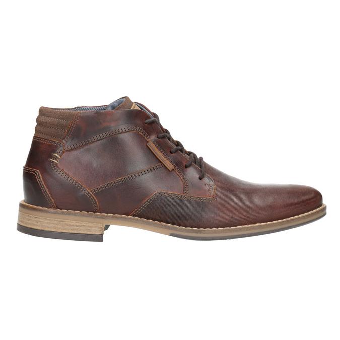 Pánská kožená kotníčková obuv bata, hnědá, 826-3926 - 26