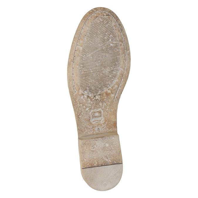 Kožené kozačky s výšivkou bata, hnědá, 596-4687 - 19