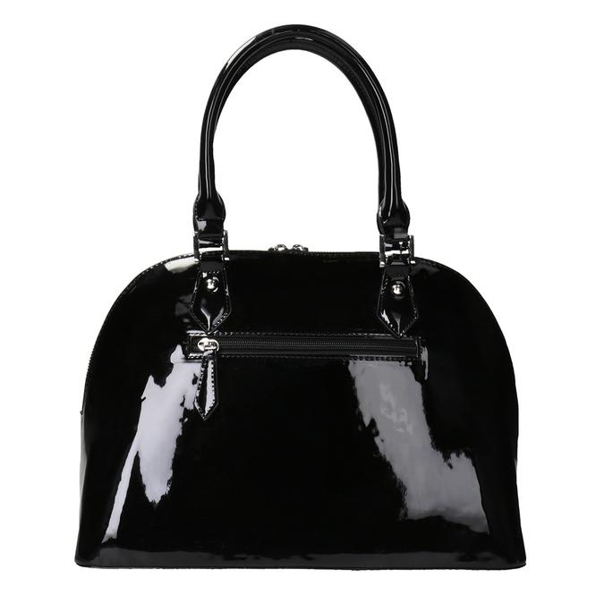 Černá lakovaná kabelka bata, černá, 961-6849 - 16