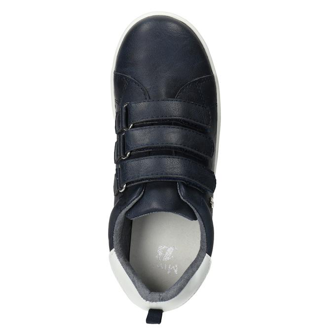 Ležérní dětské tenisky na suché zipy mini-b, modrá, 411-9609 - 15