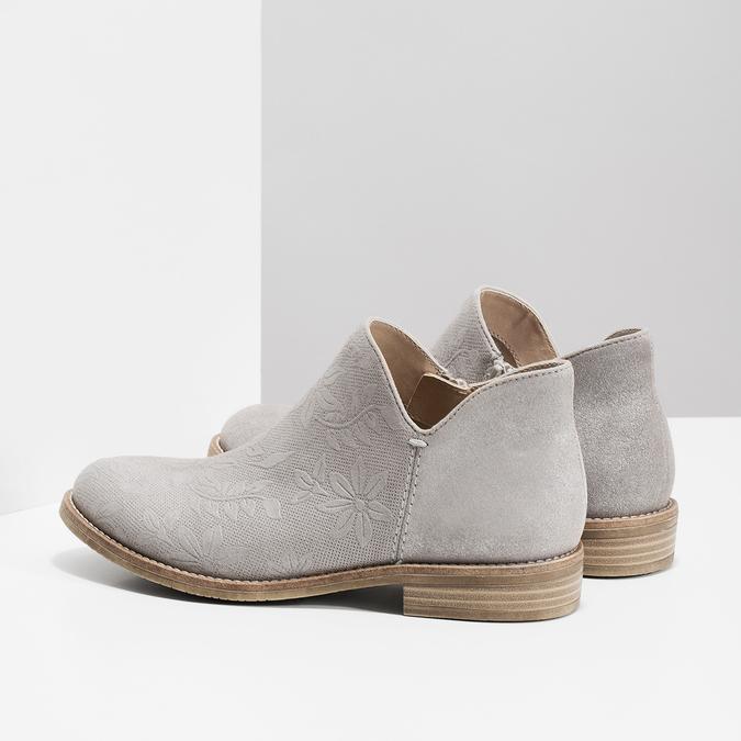 Kotníčkové dámské kozačky bata, šedá, 596-2685 - 16
