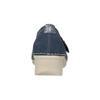 Kožené baleríny na klínovém podpatku bata, modrá, 626-9645 - 16