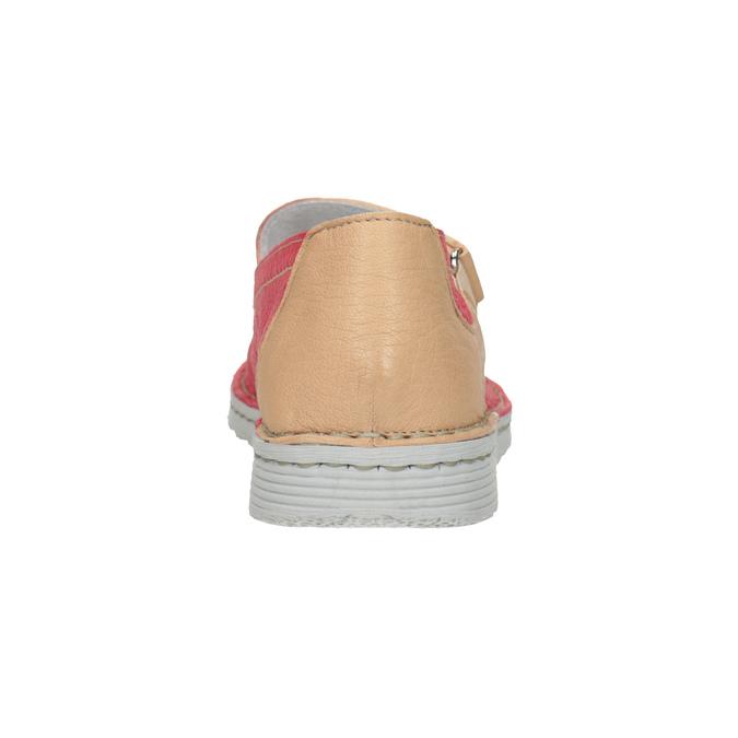 Kožené baleríny s páskem bata, červená, 526-5651 - 16