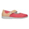 Kožené baleríny s páskem bata, červená, 526-5651 - 26