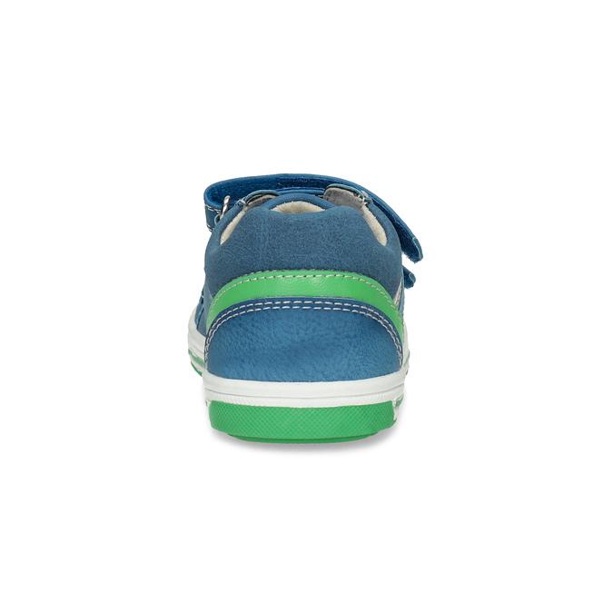 Modré dětské tenisky se zeleným detailem bubblegummers, modrá, 111-9625 - 15