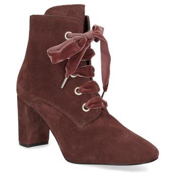 Kožené červené kotníčkové boty bata, červená, 793-5613 - 13