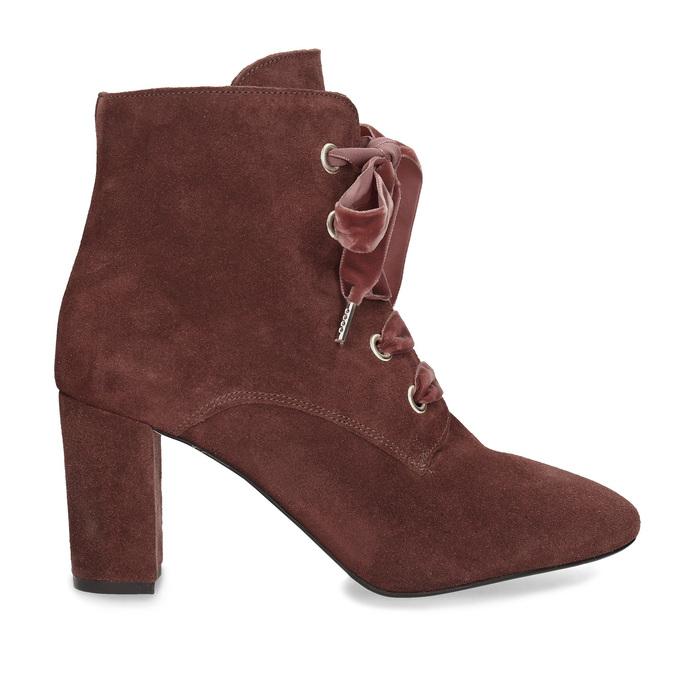 Kožené červené kotníčkové boty bata, červená, 793-5613 - 19