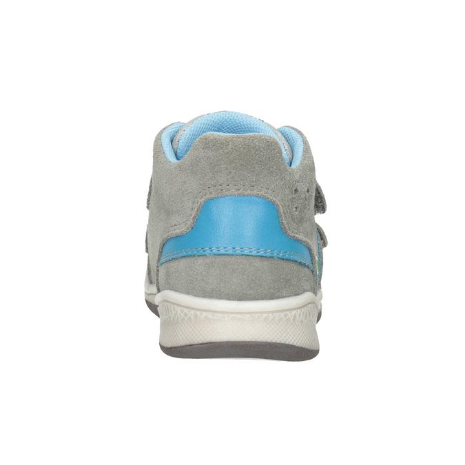 Kožená dětská kotníčková obuv bubblegummers, šedá, 113-2603 - 16