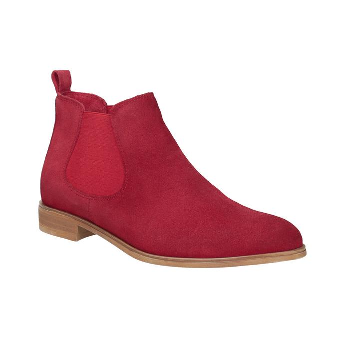 Kožená kotníčková obuv červená bata, červená, 593-5611 - 13