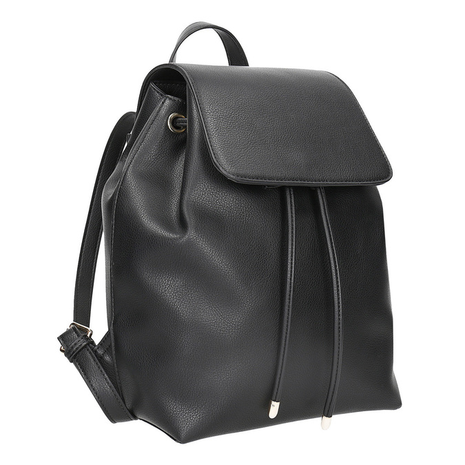 Černý batoh s poutkem bata, černá, 961-6858 - 13