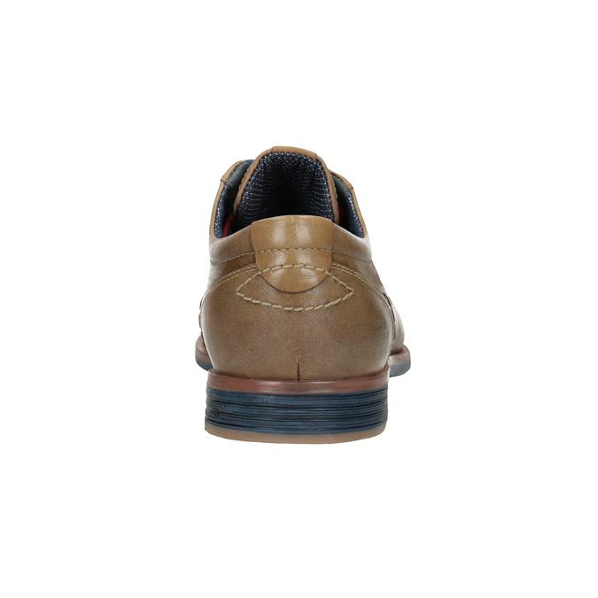 Kožené polobotky s barevnými tkaničkami bata, hnědá, 826-4928 - 16