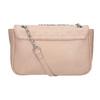 Crossbody kabelka s prošitím na klopě bata, růžová, 961-9826 - 16