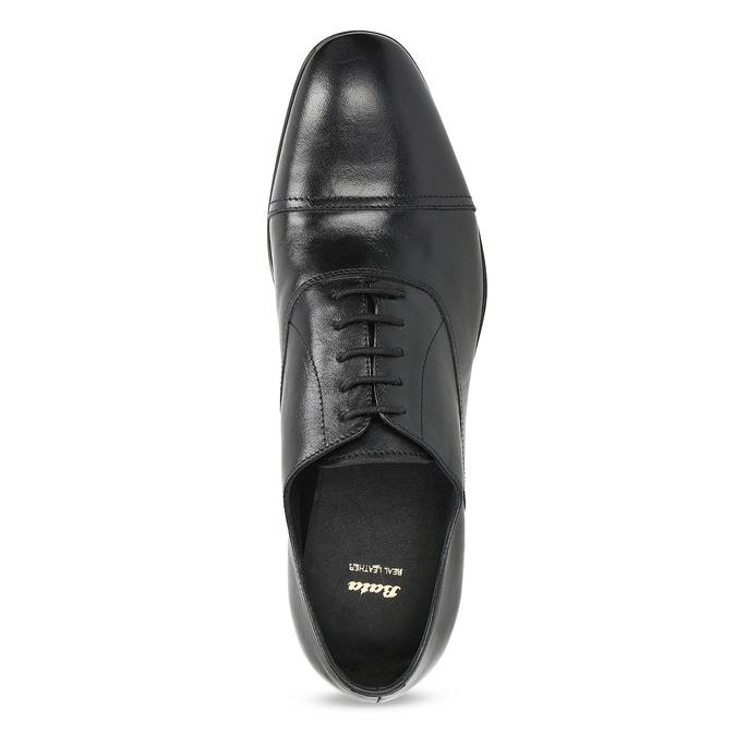 Černé kožené Oxford polobotky bata, černá, 824-6944 - 17